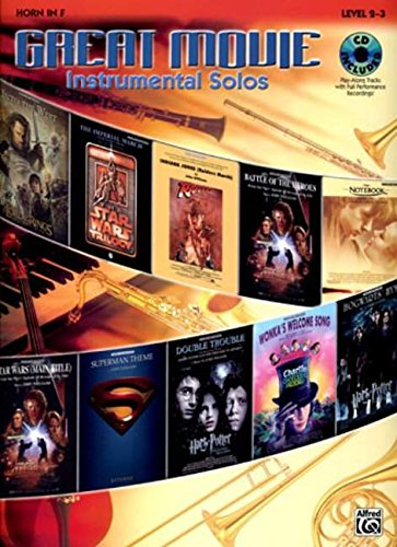 9780739043738: Great Movie Instrumental Solos: Horn in F, Book & CD