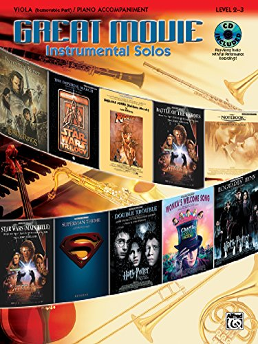 9780739043769: Great Movie Instrumental Solos for Strings: Viola (includes pull-out string part), Book, CD & Instrumental Part