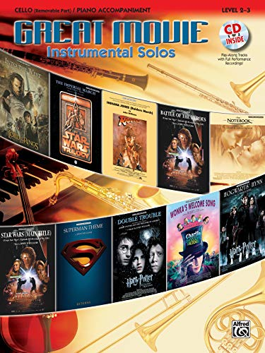 9780739043776: Great Movie Instrumental Solos for Strings: Cello (Includes Pull-Out String Part), Book, CD & Instrumental Part