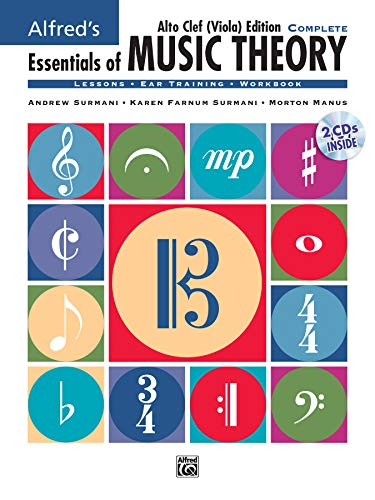 9780739045480: Alfred's Essentials of Music Theory: Complete Book Alto Clef (Viola) Edition, Comb Bound Book & 2 CDs