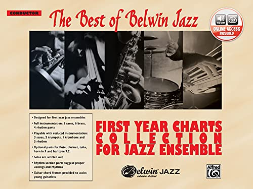 9780739045886: First Year Charts Collection for Jazz Ensemble: Conductor, Book & CD