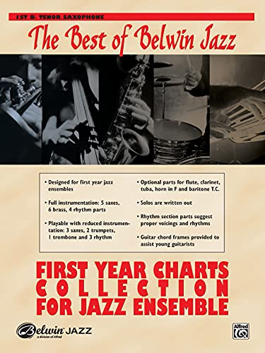 9780739045916: First Year Charts Collection for Jazz Ensemble: 1st B-flat Tenor Saxophone
