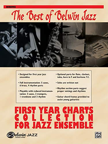 9780739046029: First Year Charts Collection for Jazz Ensemble: Drums