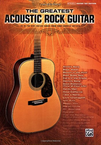 9780739046142: The Greatest Acoustic Rock Guitar Authentic Guitar Tab Edition