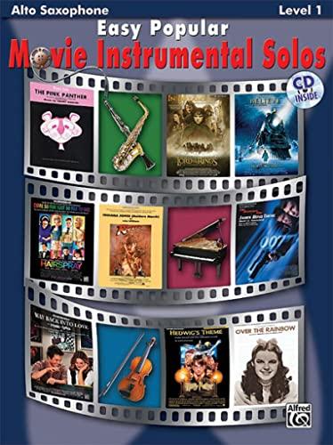 9780739047750: Easy Popular Movie Instrumental Solos: Alto Sax, Book & CD [With CD] (Pop Instrumental Solo Series)