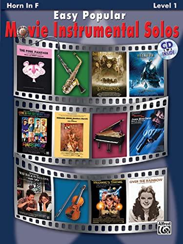 9780739047781: Easy Popular Movie Instrumental Solos: Horn in F, Book & CD (Easy Instrumental Solos)