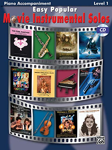 9780739047804: Easy Popular Movie Solos Accompaniment (Pop Instrumental Solo Series)