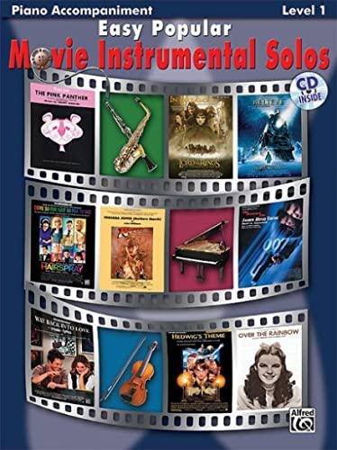 Easy Popular Movie Instrumental Solos: Piano Acc., Book & CD (Easy Instrumental Solos): Alfred ...