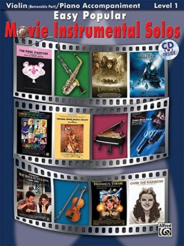 9780739047811: Easy Popular Movie Instrumental Solos - Violin and Piano Accompaniment +CD (Pop Instrumental Solo Series)