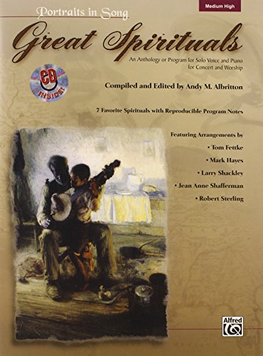 9780739048368: Great Spirituals (Portraits in Song): An Anthology or Program for Solo Voice and Piano for Concert and Worship (High Voice), Book & CD