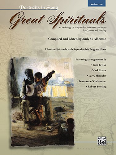 9780739048399: Great Spirituals (Portraits in Song): An Anthology or Program for Solo Voice and Piano for Concert and Worship (Low Voice), Book & CD