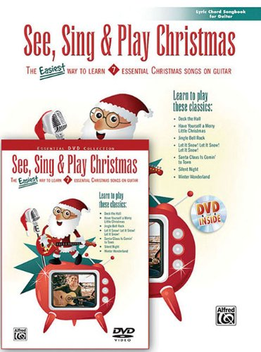 9780739048450: See, Sing & Play Christmas Lyric Chord Songbook for Guitar: The Easiest Way to Learn 7 Essential Christmas Songs on Guitar