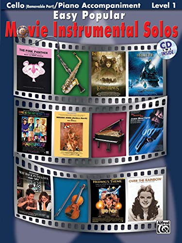 9780739048566: Easy Popular Movie Instrumental Solos: Cello (Removable Part)/ Piano Accompaniment Level 1 (Pop Instrumental Solo Series)