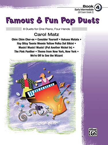 9780739049594: Famous & Fun Pop Duets, Bk 4: 8 Duets for One Piano, Four Hands