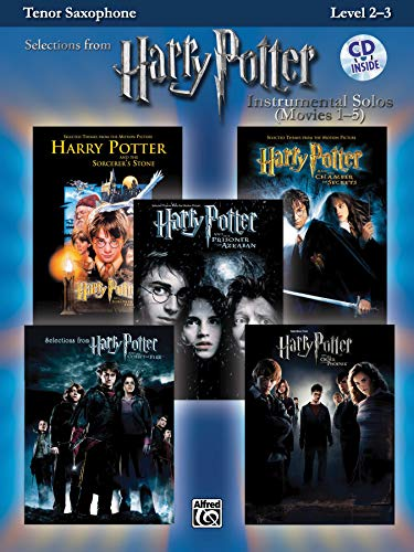 9780739049914: Harry Potter - Instrumental Solos (Movies 1-5) - Tenor Saxophone +CD (Pop Instrumental Solo Series)