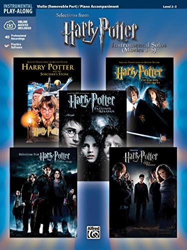 9780739049969: Harry Potter, Instrumental Solos for Violin/Piano Accompaniment (Movies 1-5) (Pop Instrumental Solo)
