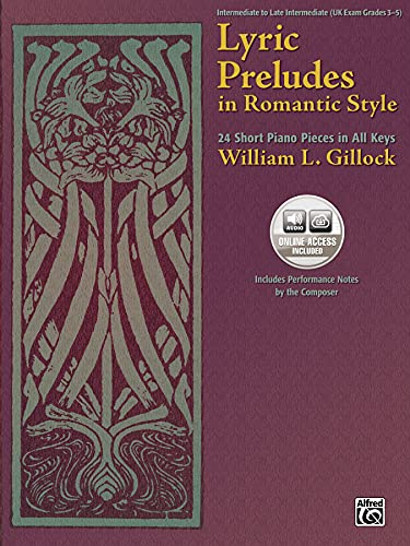 9780739050668: Lyric Preludes in Romantic Style: 24 Short Piano Pieces in All Keys, Book & CD