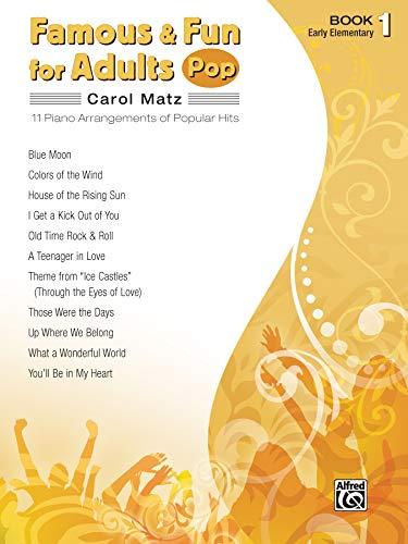 9780739052297: Famous & Fun for Adults -- Pop, Bk 1: 11 Piano Arrangements of Popular Hits