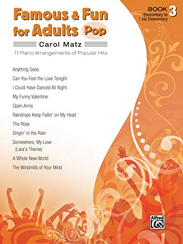 9780739052310: Famous & Fun for Adults- Pop: Book 3: Elementary to Late Elementary: 11 Piano Arrangements of Popular Hits