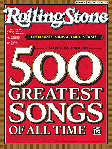 9780739052877: Rolling Stone Magazine's 500 Greatest Songs of All Time: Instrumental Solos: Alto Sax