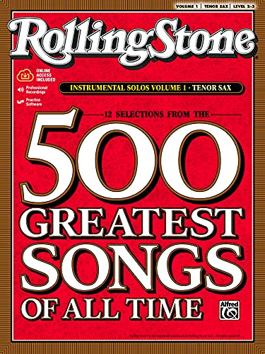 9780739052884: Selections from Rolling Stone Magazine's 500 Greatest Songs of All Time (Instrumental Solos), Vol 1: Tenor Sax (Book & CD)
