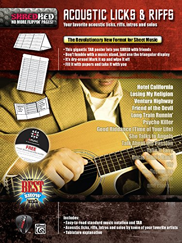 9780739054109: Acoustic Licks & Riffs: Your Favorite Acoustic Licks, Riffs, Intros, and Solos, Poster / Folder / Triangular Display (ShredHed)