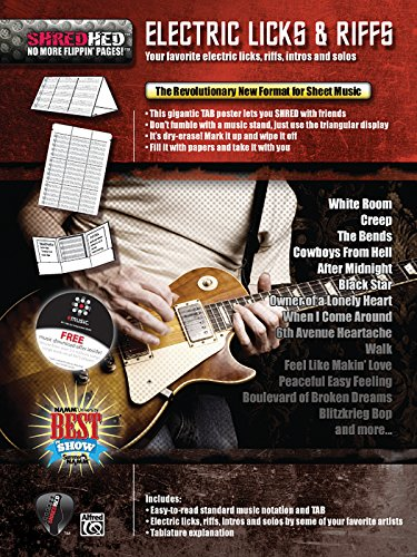 Electric Licks & Riffs: Your Favorite Electric Licks, Riffs, Intros, and Solos, Poster / ...
