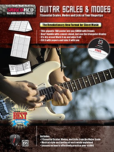 9780739054123: Guitar Scales & Modes: 7 Essential Scales, Modes, and Licks at Your Fingertips, Poster / Folder / Triangular Display (ShredHed)