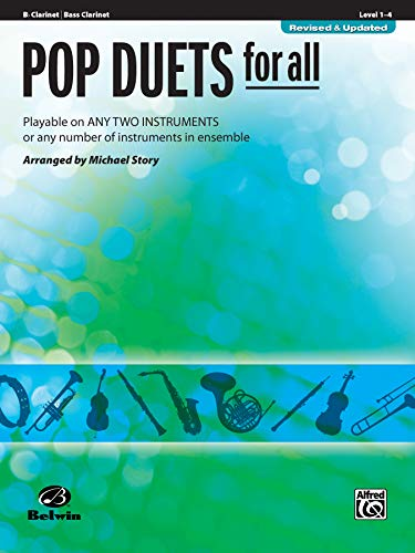 9780739054246: Pop Duets for All: B-Flat Clarinet/Bass Clarinet, Level 1-4: Playable on Any Two Instruments or Any Number of Instruments in Ensemble (Pop Instrumental Ensembles for All)