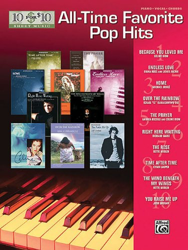 9780739056387: 10 For 10 Sheet Music: All-Time Favorite Pop Hits Piano Vocal And Chords