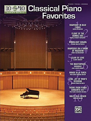 9780739056424: 10 for 10 Sheet Music Classical Piano Favorites: Piano Solos