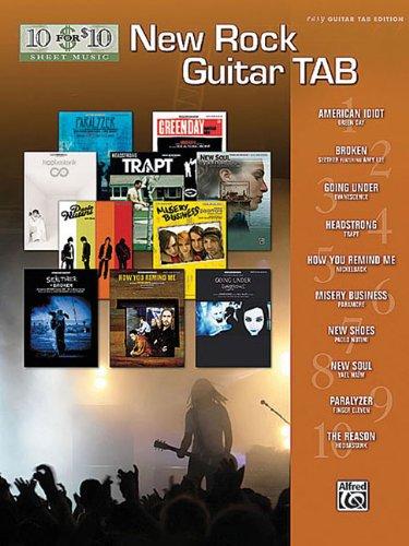 9780739056523: New Rock Guitar TAB (10 for 10 Sheet Music)