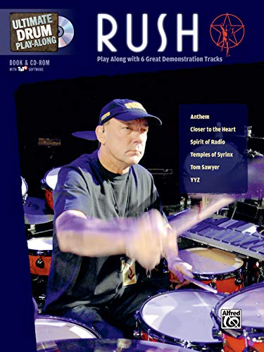 Ultimate Drum Play-Along Rush: Play Along with 6 Great-Sounding Tracks , Book & CD-ROM