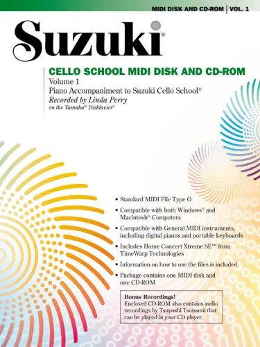 9780739057636: Suzuki Cello School MIDI Disk Acc./CD-ROM, Vol 1: MIDI Disk & CD-ROM