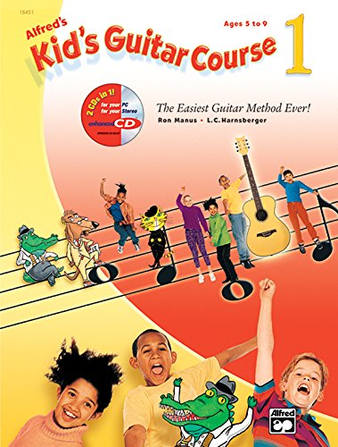 9780739057681: Alfred's Kid's Guitar Course 1: The Easiest Guitar Method Ever! (Book, Enhanced CD & DVD)