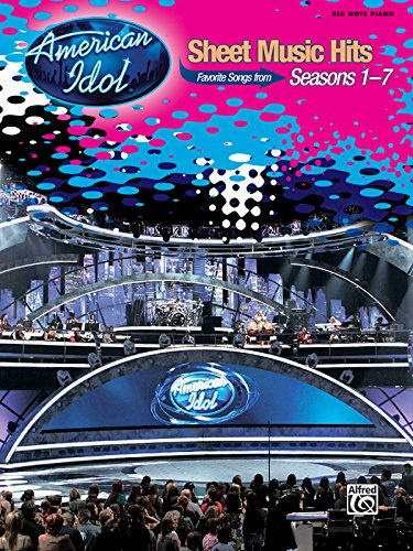 9780739058794: American Idol Sheet Music Hits, Seasons 1-7: Big Note Piano