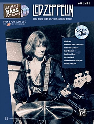 9780739059425: Ultimate Bass Play-Along Led Zeppelin, Vol 1: Play Along with 8 Great-Sounding Tracks (Authentic Bass TAB), Book & 2 CDs (Ultimate Play-Along)