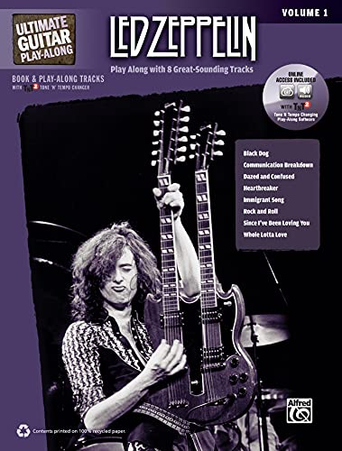 9780739059463: Ultimate Guitar Play-Along -- Led Zeppelin, Vol 1: Play Along with 8 Great-Sounding Tracks (Authentic Guitar Tab), Book & 2 CDs