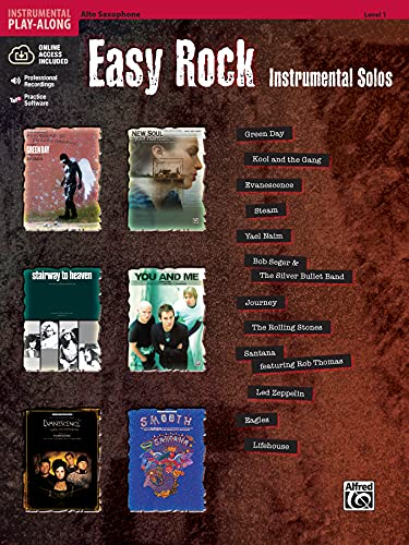 9780739059814: Easy Rock Instrumentals (alto sax/CD) --- Sax Mib/Piano - Various --- Alfred Publishing