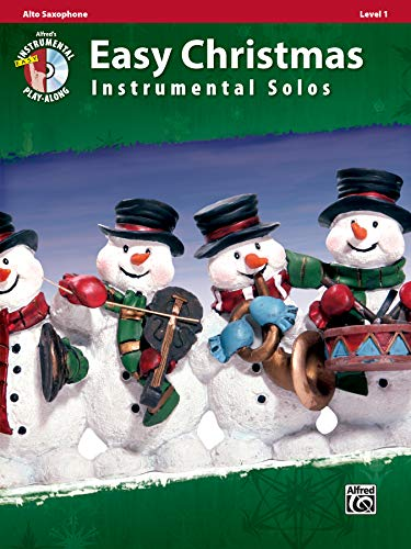 9780739062210: Easy Christmas Instrumental Solos, Level 1: Alto Sax, Book & CD (Easy Instrumental Solos)