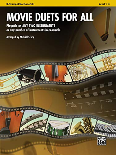 9780739063071: Movie Duets for All: Bb Trumpet/Baritone T.C., Level 1-4 (Instrumental Ensembles for All)