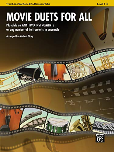 9780739063095: Movie Duets for all - Posaune, Baritone (B.C.), Fagott, Tuba: Bekannte Film Hits (Instrumental Ensembles for All)