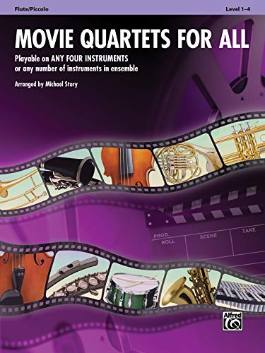 9780739063279: Movie Quartets for All: Flute, Piccolo (Instrumental Ensembles for All)