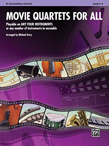 9780739063286: Movie Quartets for All: B-flat Clarinet, Bass Clarinet (Instrumental Ensembles for All)