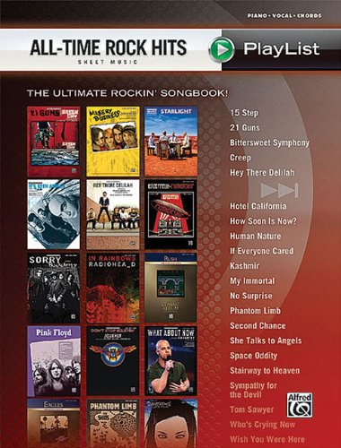 All Time Rock Hits Sheet Music Playlist Piano Vocal Chords: Alfred Publishing