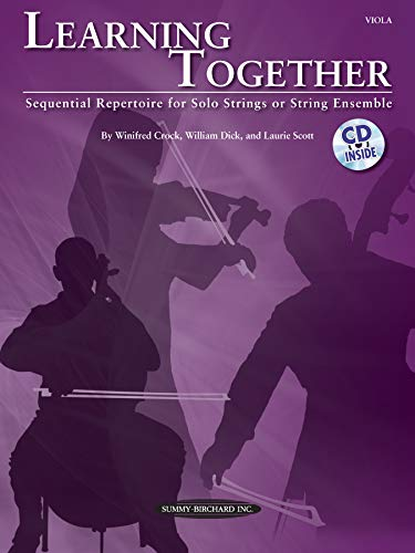 9780739068311: Learning Together: Sequential Repertoire for Solo Strings or String Ensemble (Viola), Book & CD