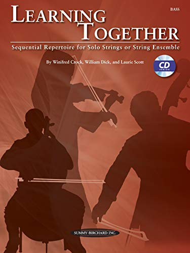 9780739068335: Learning Together: Sequential Repertoire for Solo Strings or String Ensemble (Bass), Book & CD