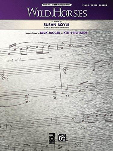 9780739068359: Wild Horses: Piano/Vocal/Chords (Original Sheet Music Edition)