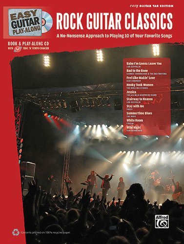 9780739069028: Easy Guitar Play-Along Rock Guitar Classics: A No-Nonsense Approach to Playing 10 of Your Favorite Songs (Easy Guitar Tab), Book & CD (Easy Play Along)
