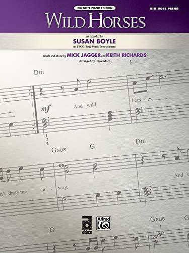 9780739069042: Wild Horses: Big Note Piano, Sheet